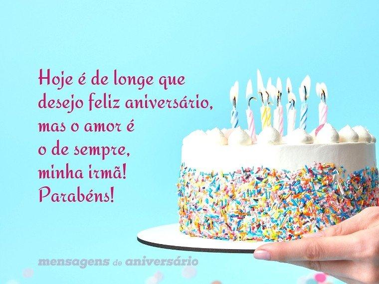 Feliz Aniversário Amiga Envio Um Beijo E O Desejo De Que: Desejos De Feliz Aniversário Distante, Irmã