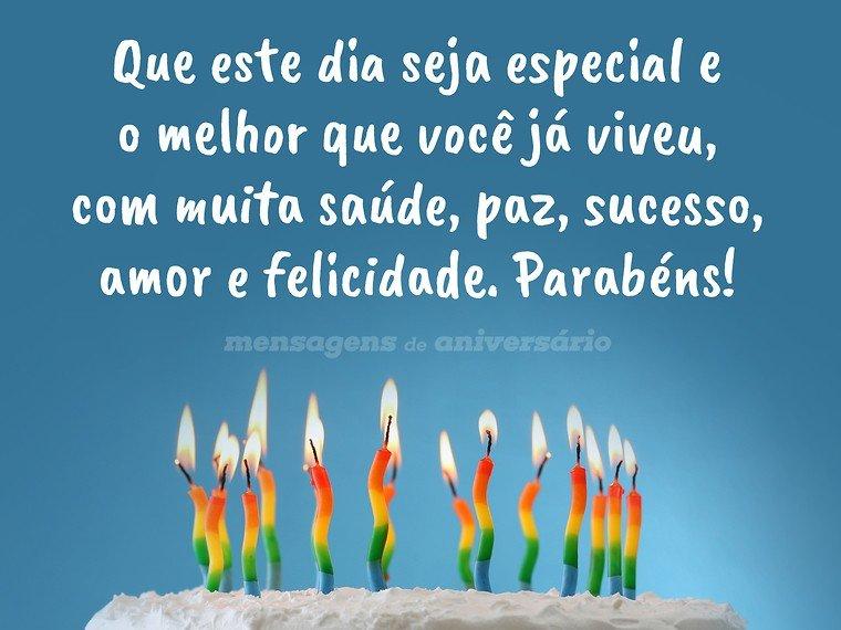 Desejos para um dia especial