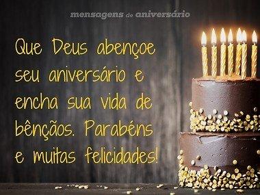 Que Deus abençoe seu aniversário