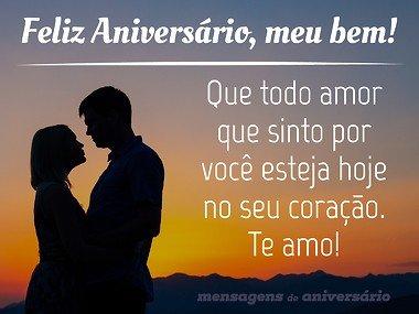 Mensagem de Aniversário Para Namorado Te Amo!