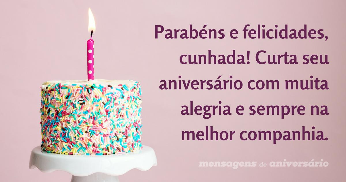 Parabéns Pelo Seu Aniversário Irmã Querida Felicidades: Parabéns E Felicidades, Cunhada