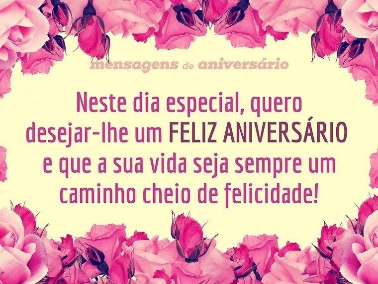 Feliz Aniversário E Uma Vida De Felicidade Mensagens De Aniversário