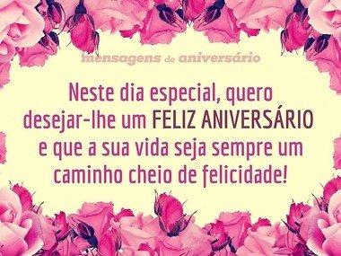 Feliz aniversário e uma vida de felicidade