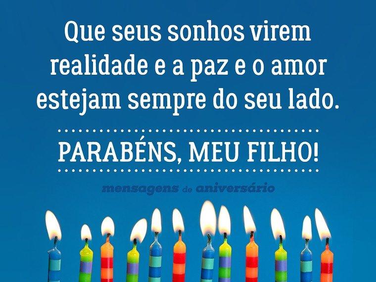 Mensagem De Aniversario De Um Ano Para Filho: Sonhos, Paz E Amor Para Meu Filho