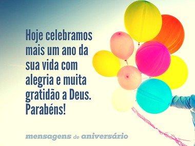 Muita gratidão a Deus pelo seu aniversário