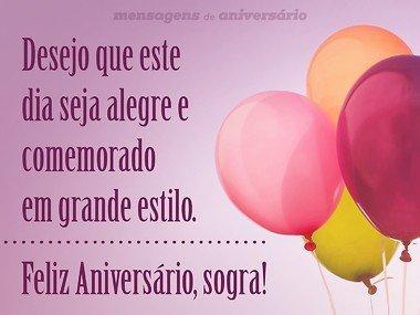 Feliz Aniversário Para Sogra de Balões Decorados