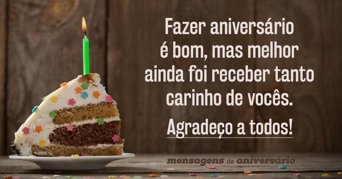 Frases De Agradecimento Para Facebook: Mensagens De Aniversário