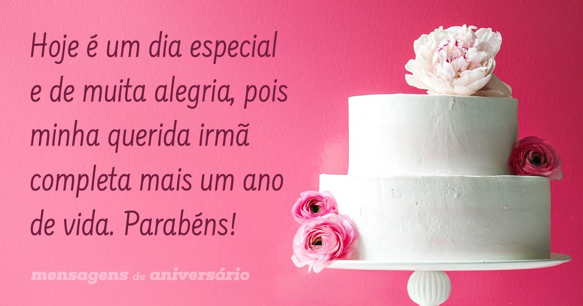 Feliz Aniversário Minha Querida Irmã: Mais Um Ano De Vida Da Minha Querida Irmã