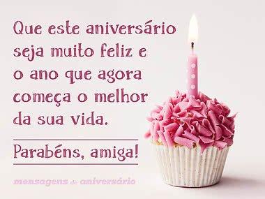 Feliz Aniversário Amiga Frases E Imagens Mensagens De Aniversário