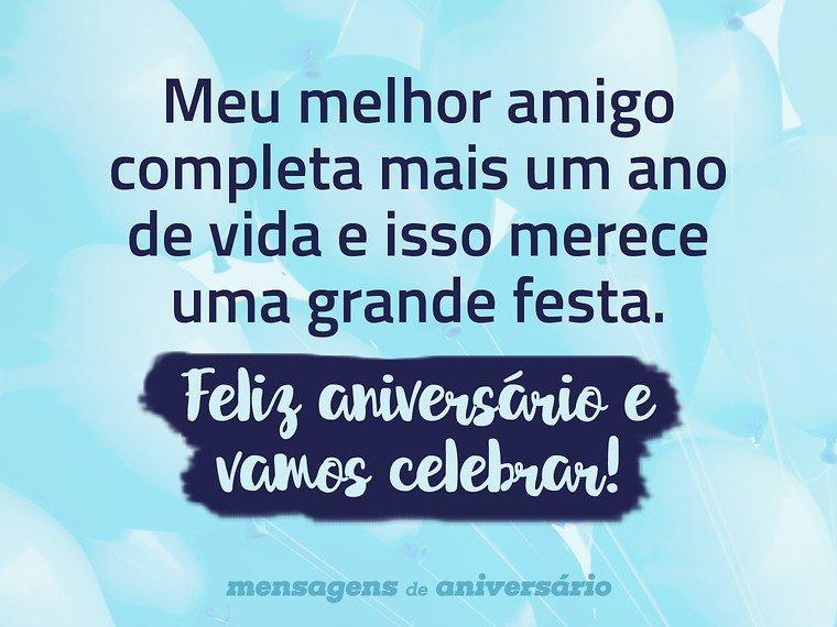 Celebrar o aniversário do melhor amigo