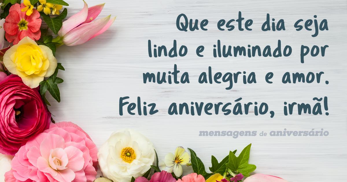 Feliz Aniversário Minha Querida Irmã: Muita Alegria E Amor Para Minha Irmã