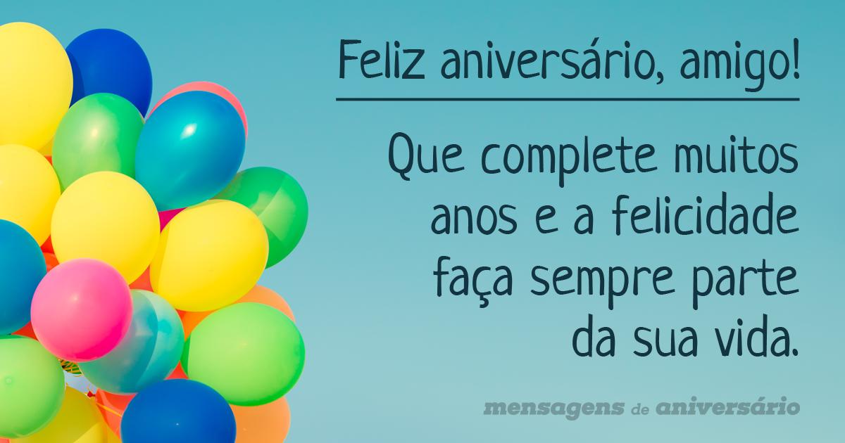 Aniversário Para Amigo Frases E Imagens Mensagens De Aniversário