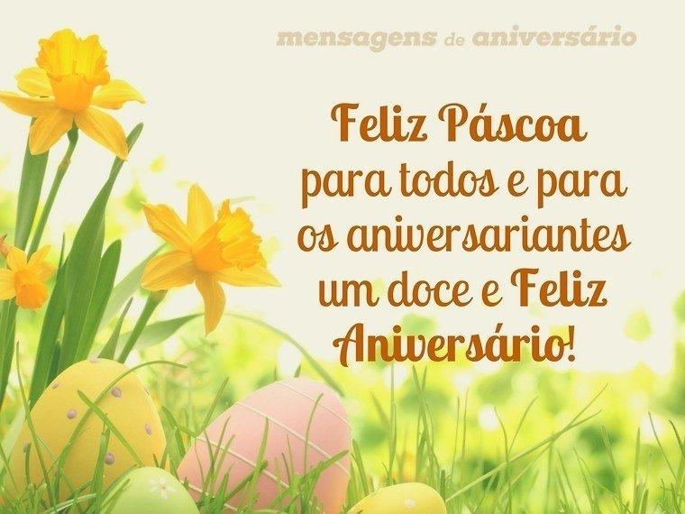 Feliz aniversário e feliz Páscoa para todos