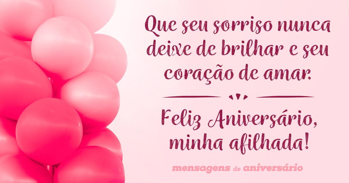 Feliz Aniversario Madrinha: O Brilho Do Seu Sorriso, Afilhada