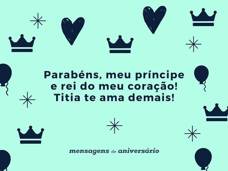 Parabéns, meu príncipe e rei do meu coração