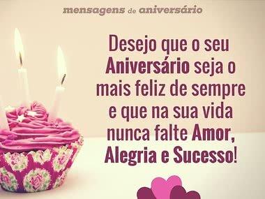 Desejo que o seu Aniversário seja feliz