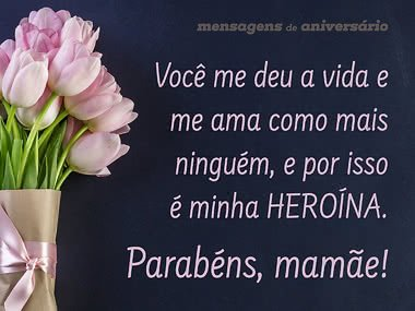 Parabéns, minha heroína