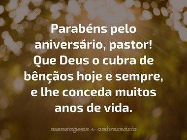 Parabéns Pastor Frases De Aniversário Mensagens De Aniversário