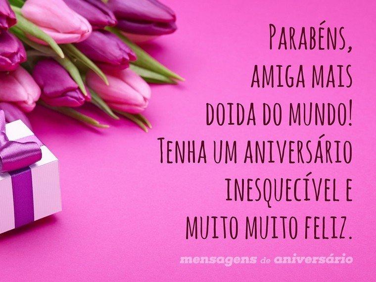 Tag Frases De Feliz Aniversario Para Amiga Doida