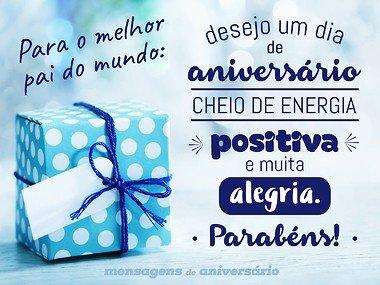 Feliz aniversário pai sobre energia positiva