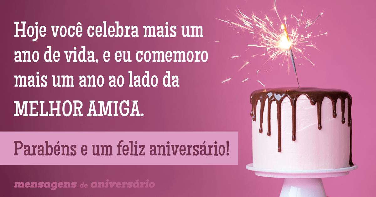 mensagem de aniversario rosa com bolo