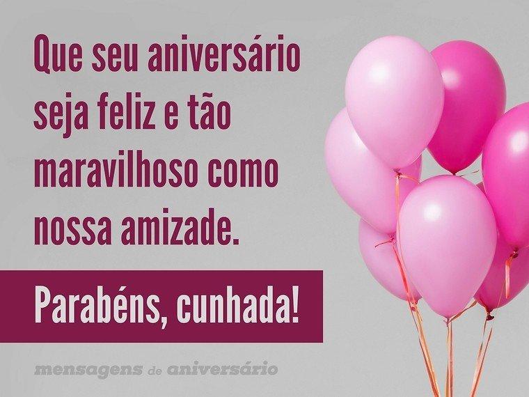 Feliz Aniversário Cunhada: Um Dia De Muita Felicidade, Cunhada